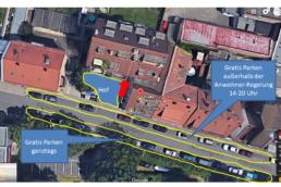 Parkmöglichkeiten, Parken, Parken beim Training, Studio21